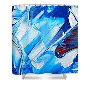 blue mode I Shower Curtain