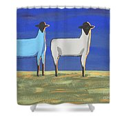 Blue Monday Shower Curtain