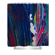 Blue Mood Abstract Shower Curtain