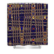 Blue Moon Abstract Shower Curtain