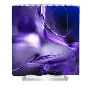 Blue Moon And Wine Spirits Shower Curtain