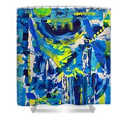Blue Moon City Shower Curtain