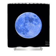 Blue Moon Close Up Shower Curtain