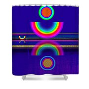Blue Moon Reflections Shower Curtain