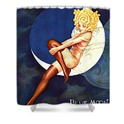 Blue Moon Silk Stockings Shower Curtain