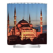 Blue Mosque At Dusk Shower Curtain