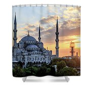 Blue Mosque At Sunset Shower Curtain
