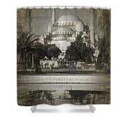 Blue Mosque - Sketch Shower Curtain