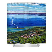 Blue Mountain Blues Shower Curtain