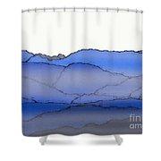 Blue Mountain Fog Shower Curtain