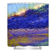 Blue Mountain River Shower Curtain