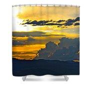 Blue Mountain Sunset Shower Curtain