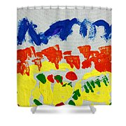 Blue Mountains Even Lemons Limes Oranges And Strawberries Shower Curtain