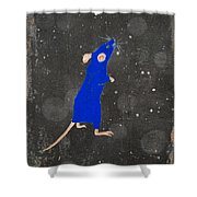 Blue Mouse Shower Curtain