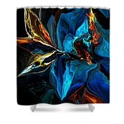 Blue Mystery 062915 Shower Curtain