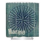 Blue Nautical-jp3616 Shower Curtain
