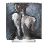 Blue Night - Nudes Gallery Shower Curtain