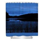 Blue Night Falling Shower Curtain