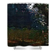 Blue Night In The Field Shower Curtain