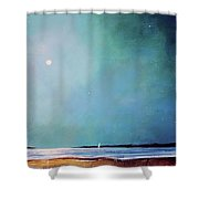 Blue Night Sky Shower Curtain