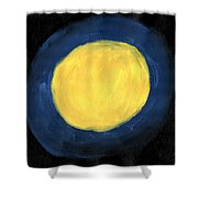 Blue Night Sun Shower Curtain