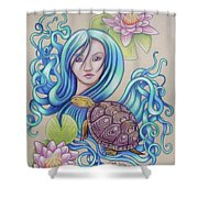 Blue Nova Shower Curtain
