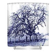 Blue Oak Shower Curtain