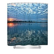 Blue On Blue Shower Curtain
