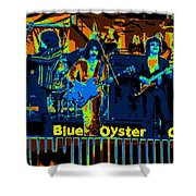 Blue Oyster Cult Jamming In Oakland 1976 Shower Curtain