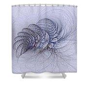 Blue Pagliai Ferns Shower Curtain
