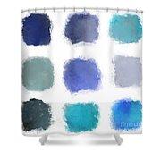 Blue Palette, No.1 Shower Curtain