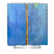 Blue Palm Shower Curtain