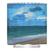 Blue Paradise, Scenic Ocean View From The Bahamas Shower Curtain