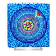 Blue Parrot Mandala Shower Curtain