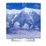 Blue Peaks Shower Curtain