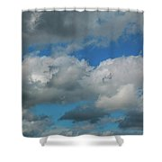 Blue Perfect Sky Sea Of Clouds From High Altitude Space Shower Curtain