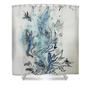 Blue Plant Of Dream Shower Curtain