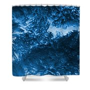 Blue Plants Shower Curtain