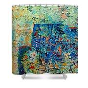Blue Play 1 Shower Curtain