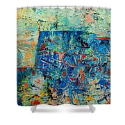 Blue Play 2 Shower Curtain