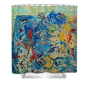 Blue Play 5 Shower Curtain