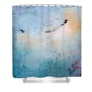 Blue Poetry Shower Curtain