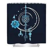 Blue Point Shower Curtain
