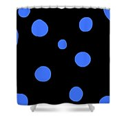 Blue Polka Dot Design Request Shower Curtain