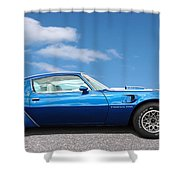 Blue Pontiac Trans Am 1978 Shower Curtain