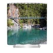 Blue Pools New Zealand Shower Curtain