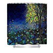 Blue Poppies And Diasies 67 Shower Curtain
