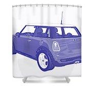 Blue Print Mini Shower Curtain
