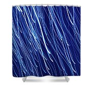 Blue Rain Abstract Shower Curtain