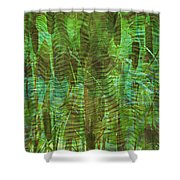 Blue Reed Shower Curtain